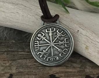 Norse Jewelry - Viking Jewelry - Silver Vegvisir - Vegvisir Compass - Viking Compass - Silver Viking Jewelry Necklace - Vegvisir Necklace