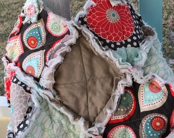 """Rag Quilted """"Mary-Catherine"""" Hobo Purse"""