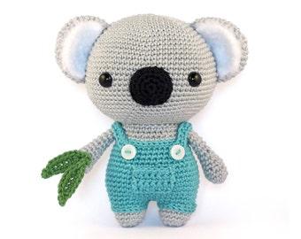 Cute Koala amigurumi crochet pattern PDF