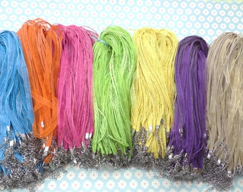 Sale 50pcs 17-19 inch assorted color  ribbon necklace cord