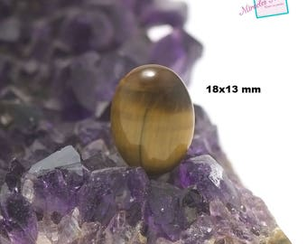 """cabochon 1 """"Oval 18 x 13 mm"""" Tiger's eye, natural stone"""