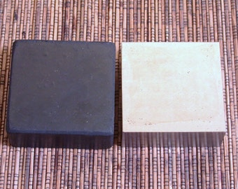 Steel bench block, hard rubber block,  combo set, stamping block, 2.5x2.5x3/4 inch