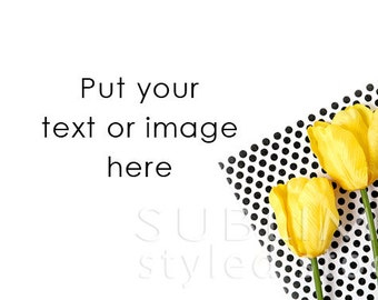 Styled Stock Photography / Spring Background / Stock Image / Flowers / Desktop with flowers / Styled Flowers / Mockup / StockStyle-668