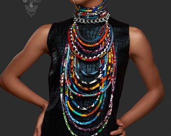 The Half Moon Legend Multi-strand Statement Necklace Set