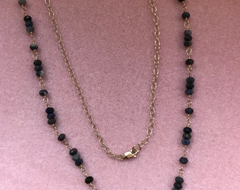 Sapphire and 14K Gold Filled Necklace