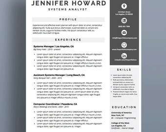 "Professional Resume Templates | CV Template + Cover Letter | Modern Resume Design | Mac or PC | Microsoft Word (""Ventura)"")"