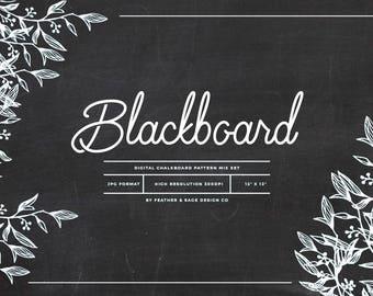 Blackboard Digital paper Set, INSTANT DOWNLOAD