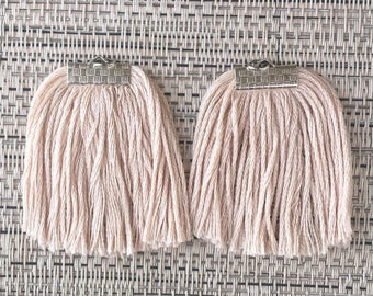 Champagne Blush Fringe Earrings