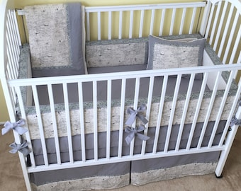 Natural Air Traffic CRIB BEDDING - Includes Bumper Pad, Crib Skirt, Blanket, and Accent Pillow / Aviation Theme Baby Bedding Set