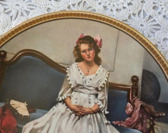 Norman Rockwell plate, Waiting at the Dance, Collector's plate, Certificate of Authenticity, Limited edition #3672R, 218/8