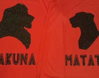 Lion King Couple Simba and Nala Hakuna Matata Shirts