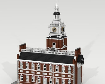 CUSTOM LEGO BUILDING Independence Hall. Philadelphia, Pennsylvania  (United States of America). Great Size !!! 7.584 pieces.