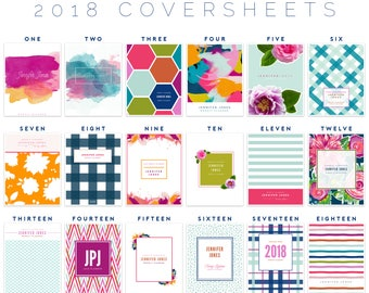 Personalized Planner Coversheet Printable PDF