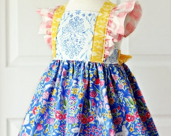 Bellevue Dress PDF Sewing Pattern, including sizes 12 months - 12 years, Girls Dress Pattern,
