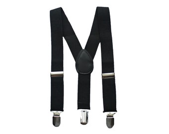 Black Boys Suspenders, Boys Black Suspenders, Kids Suspenders, Baby Suspenders, Toddler Suspenders, Suspenders, Black Ring bearer suspenders