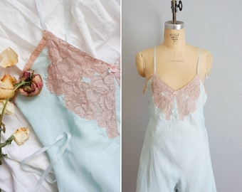 1920s/1930s Step Lightly blue step-in   vintage 30s lace step-in lingerie   vintage 20s step-in lingerie medium