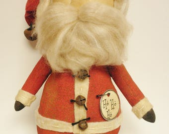 Santa Doll, Primitive Santa Dolls, Folk Art Santa Claus Dolls, Christmas Decor