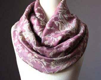 Smoky Rose acrylic blend scarf, perfect for fall and spring
