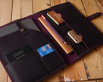 "Purple leather iPad Case Leather Covers, Apple Pencil Case, 10.5"" / 2018 9.7"" iPad Pro leather portfolio, Custom / 9.7"" 10.5"" 12.9"""