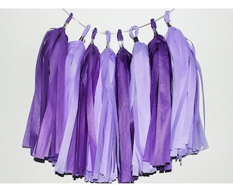 Purple rain tassel garland!