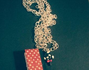 Mini book necklace, miniature book pendant