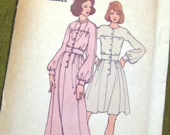 1970s Vintage Sewing Pattern - Designer Daniel Hechter Maxi DRESS - Kimono Sleeve - Butterick 6832 / Size 12 UNCUT FF