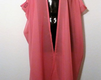 Scarf Art Calf Length Scarf Vest - Rose