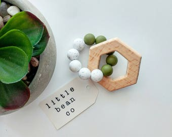 Modern Chew Toy Teething Rattle, wood toy, teething toy, teething rattle, baby toy, accessory