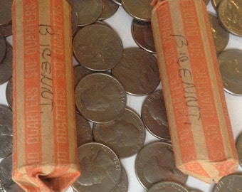 Four (4) Bicentennial Quarters; US Vintage Coin; 4 Quarters; Circulated