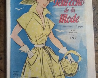 2 True Vintage 1940s French fashion magazines