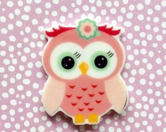 Owl needle minder, Owl needleminder, Owl magnet, Owl magnetic, needle magnet crossstitch, cross stitch sewing magnet
