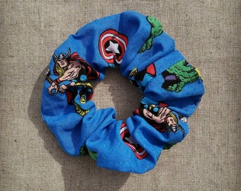 Marvel Avengers Scrunchie | Featuring Black Widow, Captain America, Iron Man, The Hulk and Thor