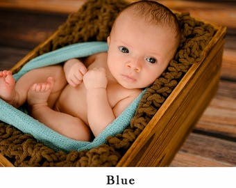 Blue Newborn Stretch Wrap Photo Prop, Stretch Knit wrap, Newborn Wrap, Baby Stretch Wrap, Stretchy wrap for baby, Photography prop