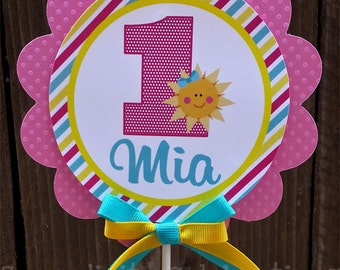 Personalized Cake Topper -You Are My Sunshine -small centerpiece -Birthday -Baby Shower -Sun -Smash Cake Topper -Photo Prop -Dessert Table