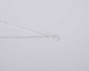 Silver Necklace  Heart Love Chain Hearts Silver Plated Heart Necklace