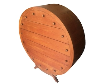 Danish Modern Teak Round Dresser 1 of a Kind 1970's