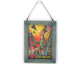 Dinosaur Picture, Dinosaur Magnet, Dino Magnet, Housewarming Gift, Thank You Gift, Small Gift, Gift For Him, Gift For Her, Fridge Magnet