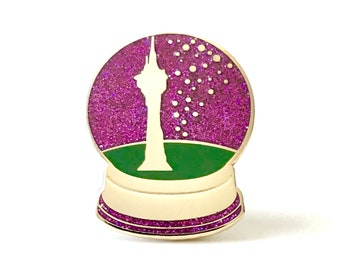 Snow Globe Pin 'I See The Light' - Enamel Pin