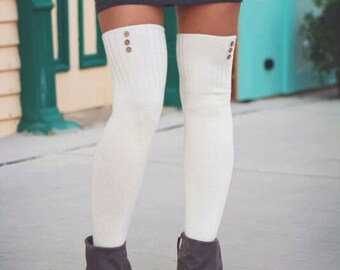Over the Knee Socks Thigh High Skirt Socks Cozy Cotton Lounge Socks Women's Gift Idea Boot Socks Fashion Socks
