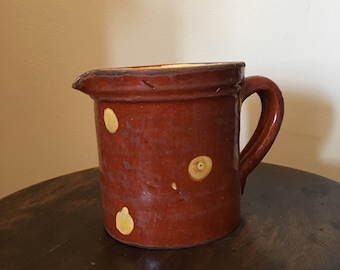 Antique French Provencal Jaspé Pitcher 1800s French Earthenware