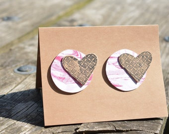 Hearts and Circles Abstract Card