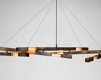 Modern Chandelier   Minimalist Chandelier   Brass Chandelier   Custom Lighting   Pendant Lamp   Sputnik Chandelier   Minimalist Light