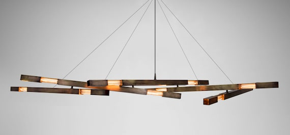 Modern chandelier minimalist chandelier brass chandelier like this item aloadofball Choice Image