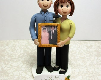DEPOSIT for Custom made Polymer Clay Anniversary Cake Topper