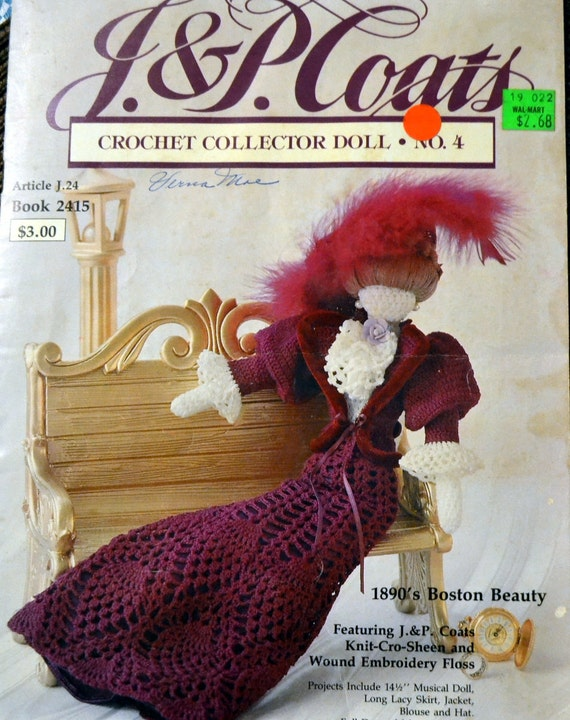 Crochet Collector Doll Patterns Number 4 1890s Boston