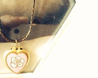 A very romantic Vintage heart locket necklace.
