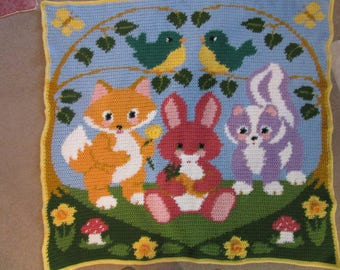 Woodland Friends blanket