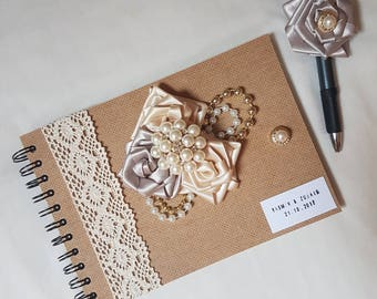Personalised Guest Book | Personalised Glue-in Photo Album | Wedding | Special Occasion