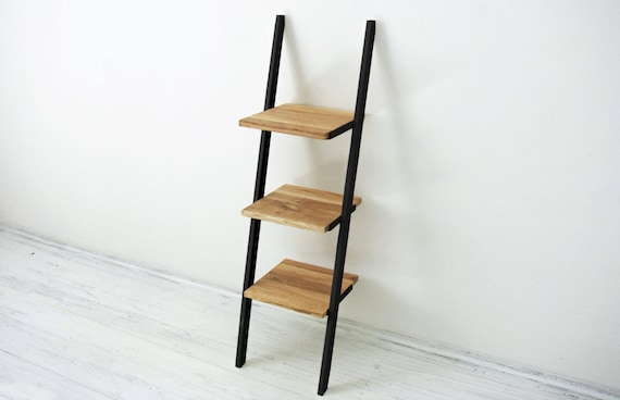 Small bookshelf Small three level ladder bookcase Bedside