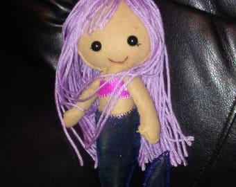 Felt mermaid dolls.